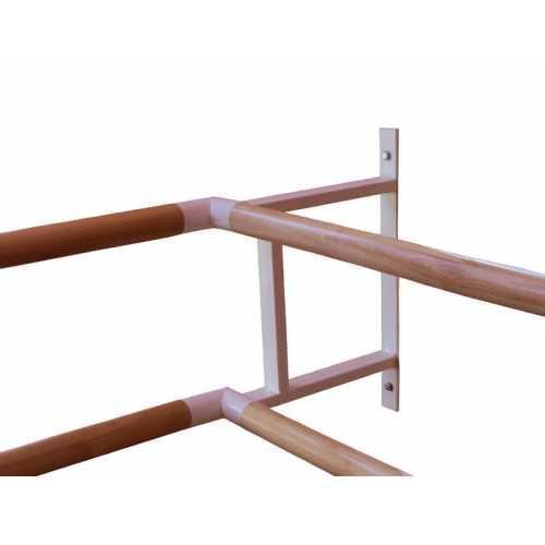 Кронштейн угловой пристенный двухрядного балетного станка