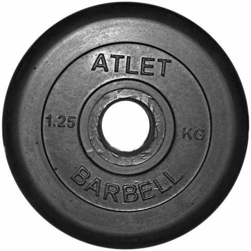 Диск ATLET обрезиненный d-26, 31, 51 мм 1,25 кг