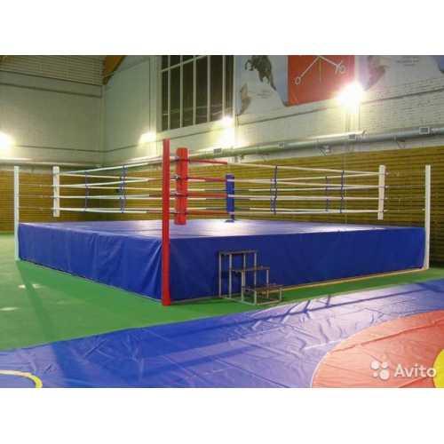 Боксерский ринг на помосте 6*6м. V-0.3 м