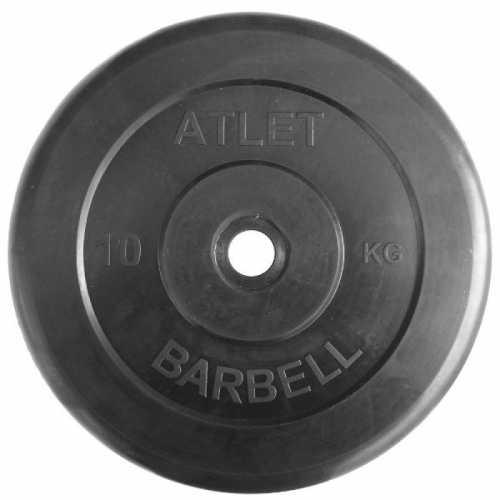 Диск ATLET обрезиненный d-26, 31, 51 мм 10 кг