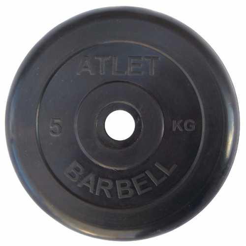 Диск ATLET обрезиненный d-26, 31, 51 мм 5 кг