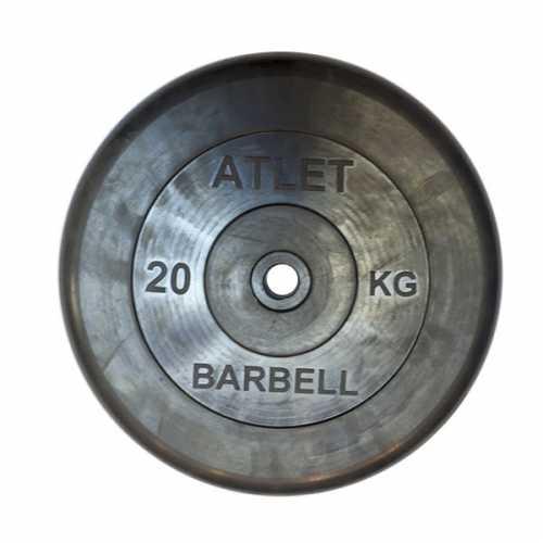 Диск ATLET обрезиненный d-26, 31, 51 мм 20 кг