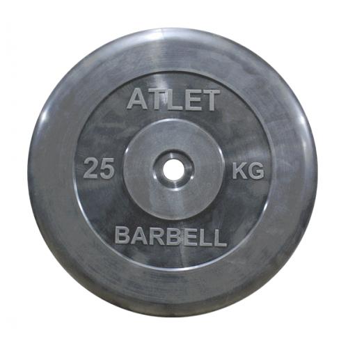Диск ATLET обрезиненный d-26, 31, 51 мм 25 кг